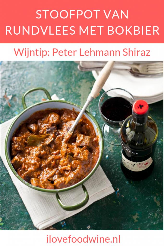 Recept voor een winterse stoofschotel van bokbier en rundvlees (sucade lappen) met heerlijke kruiden en o.a. spek ontbijtkoek en tomatenpuree. Een heerlijk hoofdgerecht met vlees voor in herfst en winter.