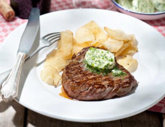 Hollandse biefstuk met kruidenboter