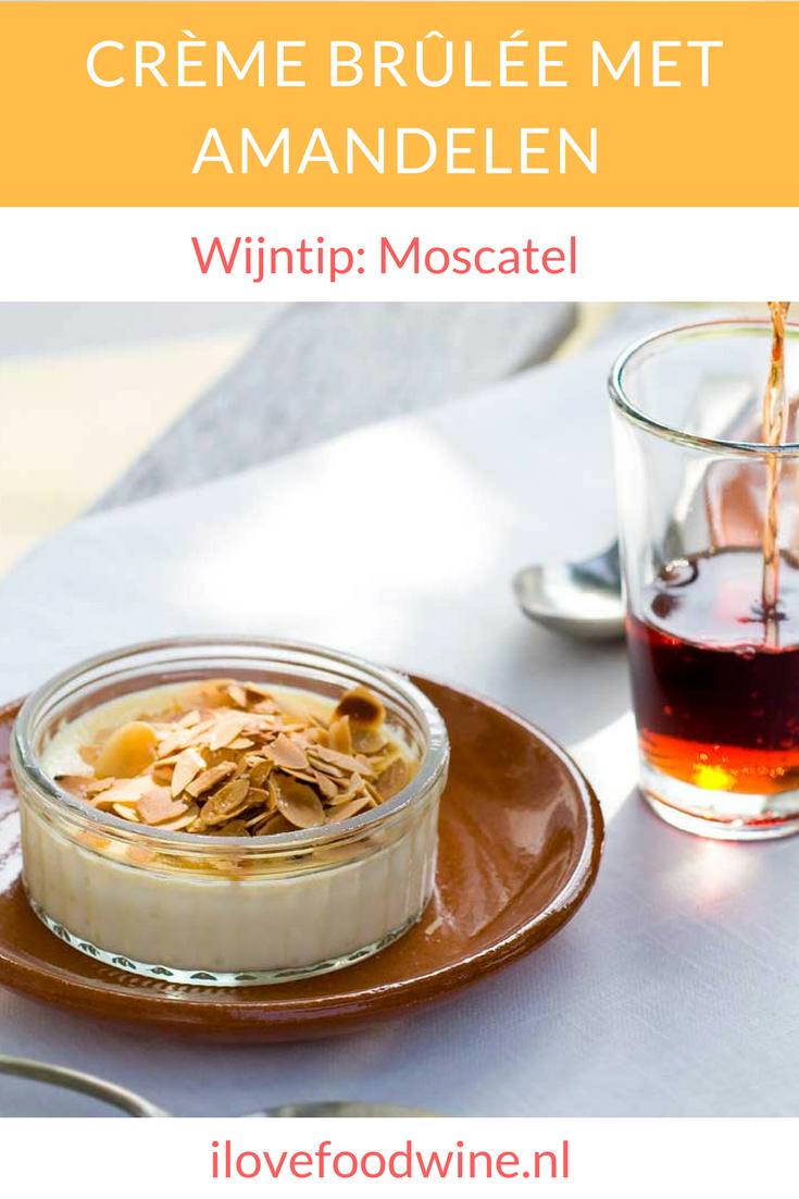 Recept dessert crème brûlée. Met een variatie op de klassieker door toevoeging van amandelen en koffielikeur. #dessert #crèmebrûlée #koffielikeur