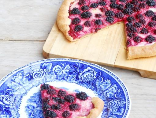 Open taart met bramen