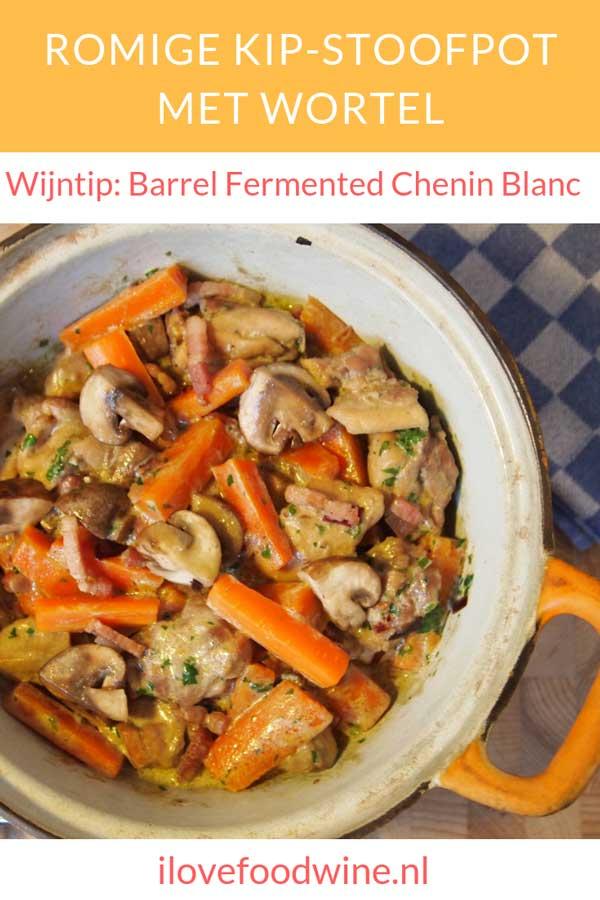 Makkelijke en snel recept met kip: romige kip stoofpot met wortel. Met o.a. kippendijen, wortel, spek, crème fraîche. In 30 minuten op tafel! Lees het recept op de site.