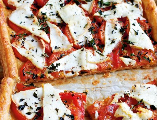 Quiche met tomaten en geitenkaas