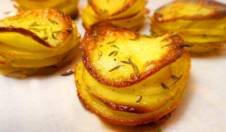 Aardappeltaartje 'Pommes Anna' van Jody