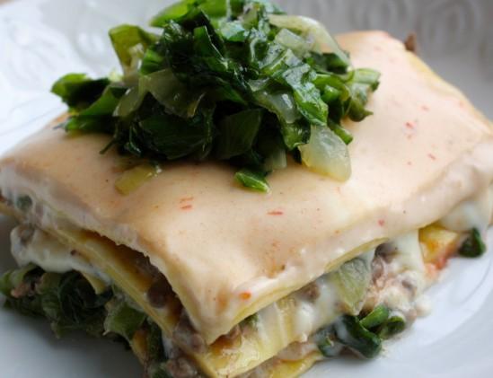Lasagne van andijvie en gehakt