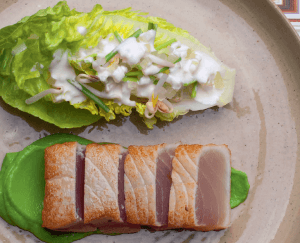 Tonijn, doperwt & Granny Smith salade