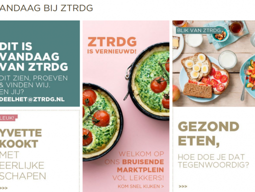 Online marktplein bij ZTRDG