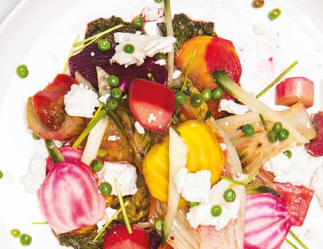 Salade met gegrilde little gem 2