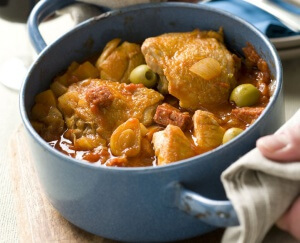 Spaanse kip met chorizo