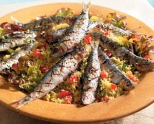 Couscoussalade met sardines
