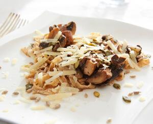 Pappardelle met paddenstoelen en truffel