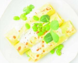 Cannelloni met tuinbonen