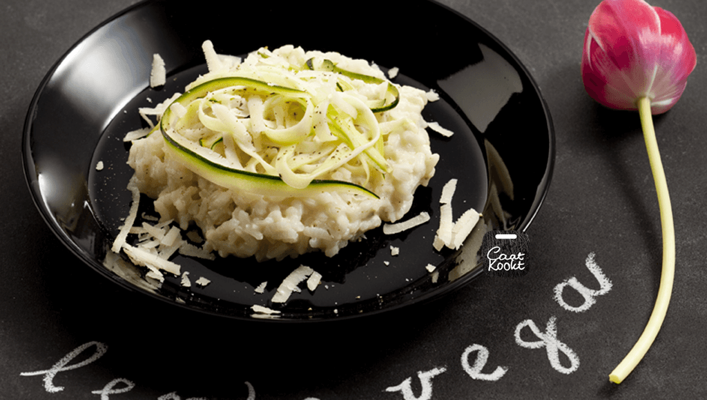 Romige risotto met courgette