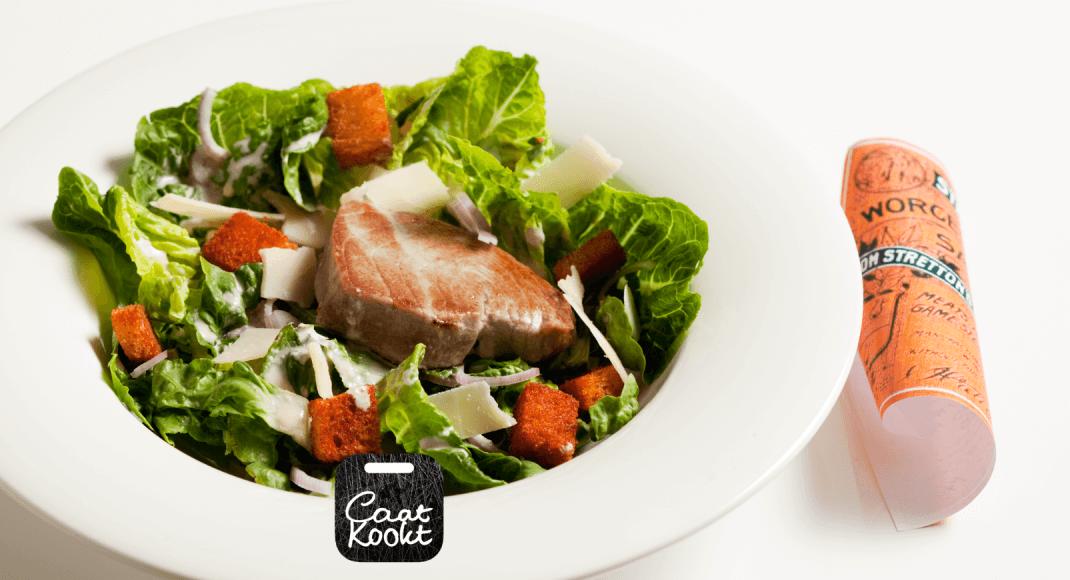 Caesarsalade met tonijn