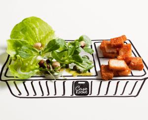 Groene salade met croutons