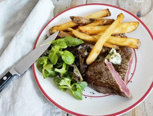 Biefstuk met kruidenboter