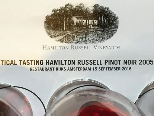 Hamilton Russell verticale proeverij
