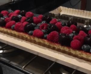 Zomerfruit-cheesecake