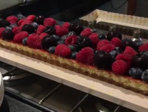 Zomerfruit cheesecake