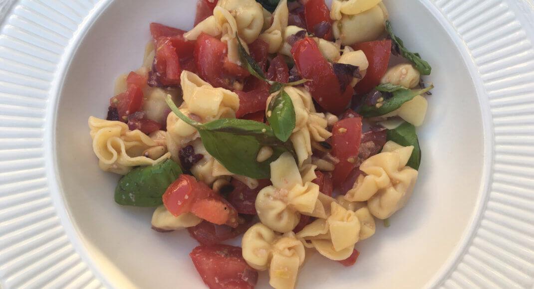 Perline met tomaat en spinazie