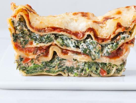 Lasagne met spinazie en ansjovis