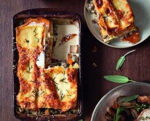 Lasagne met paddenstoelen