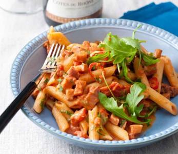Pasta met tomaten-wodkasaus