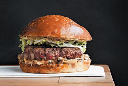 Hamburger 8, met champignons