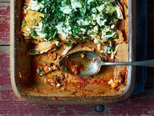Groente-lasagne zonder pasta