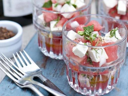 BBQ Watermeloen met feta