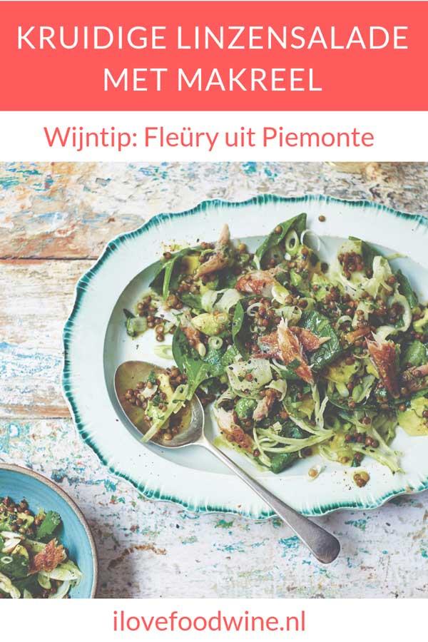 Recept makkelijke maaltijdsalade met vis: linzensalade met gerookte makreel. Met o.a. venkel spinazie, avocado en linzen. Lees snel hoe je deze lekkere salade maakt.