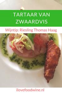 Recept: Zwaardvis met avocadocrème en gamba #vineum #cooqing #grapefruit