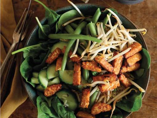 Gado gado-salade met tempeh