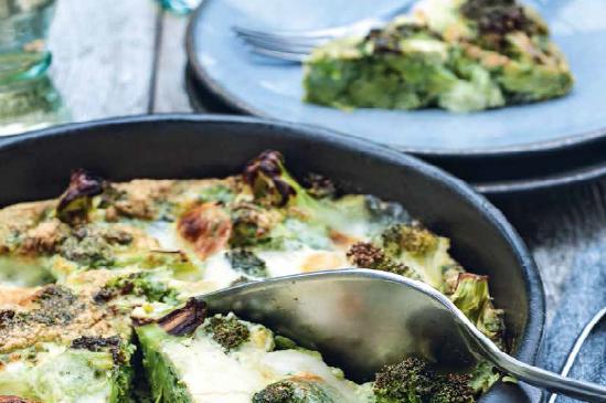 Broccoli taart met mozzarella