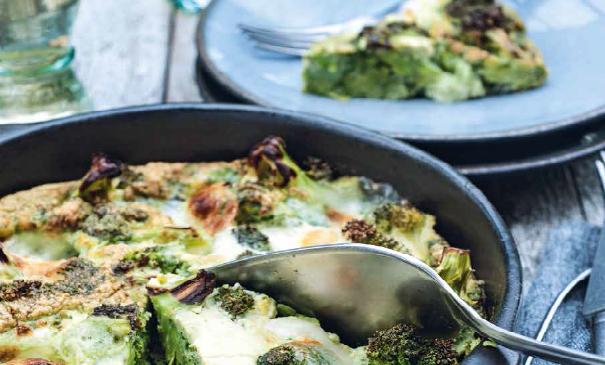 Broccolitaart met mozzarella