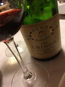 Chinon in het glas