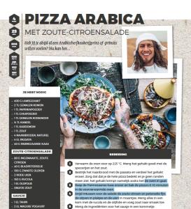 layout pizza arabica uit kookboek chef met lef
