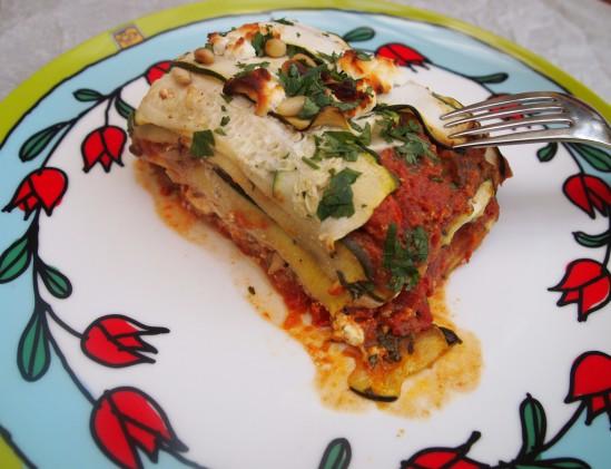 Courgette - lasagne