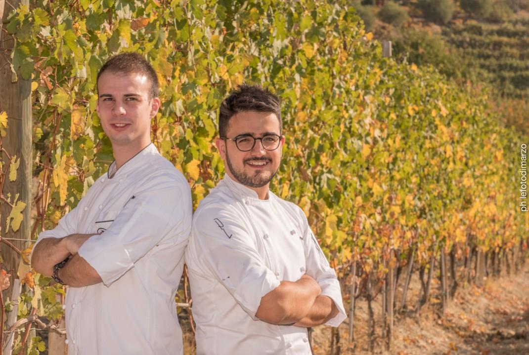 Chef Pasquale Laere van Restaurant La Rei onderdeel van Il Boscareto Resort SPA, en sous chef Dario Spiga van Robert