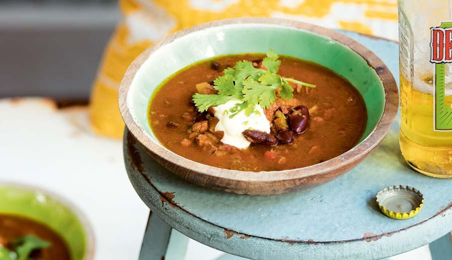 Mexicaanse bonensoep met rundvlees