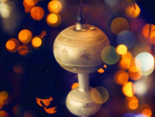 Kerstballen liggend