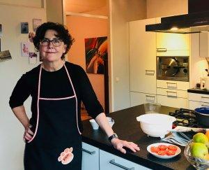 Mieke in de keuken