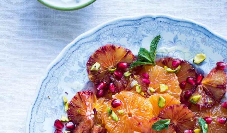 Sinaasappelsalade met granaatappel
