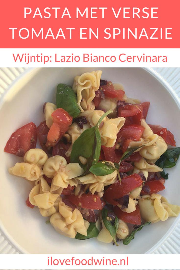 Recept makkelijke en gezonde pasta (Perline) die snel op tafel staat. Met verse tomaat, babyspinazie, knoflook, parmzaanse kaas etc. #pasta #gezond