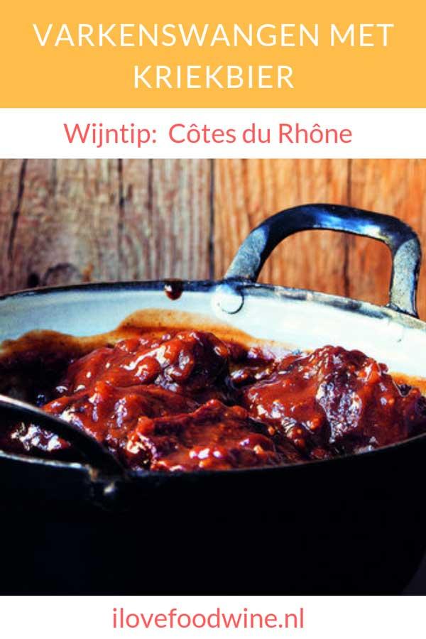 Recept Varkenswangen met kriekbier. varkenswangen maak je de meest malse stoofschotels. Bijvoorbeeld deze Vlaamse variant met een zoetzure saus met kriekbier, peperkoek, mosterd en kersenconfituur. En dan: zachtjes sudderen… Lees het recept op de website.