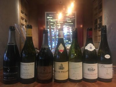De wijnen bij Fred-lunch
