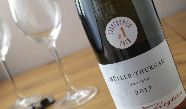 Müller-Thurgau, aspergewijn 2018