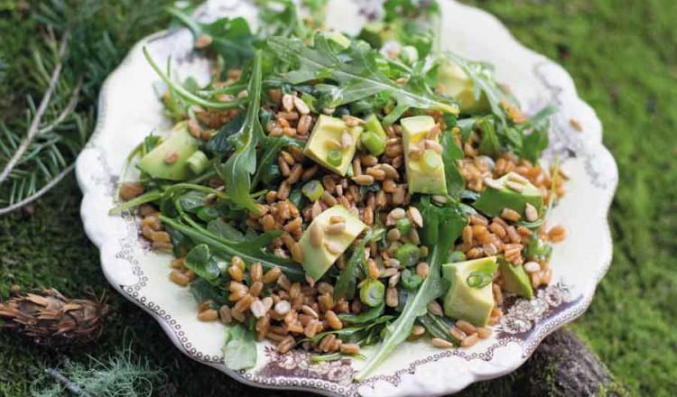 Farro salade liggend