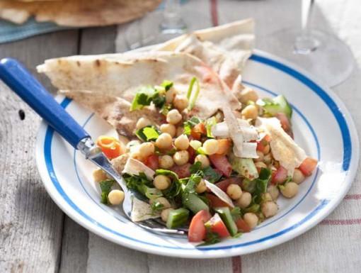 Fattoush, een Libanese broodsalade