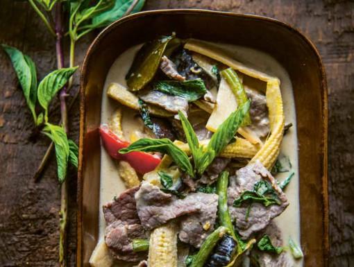 Thaise groene curry met rundvlees