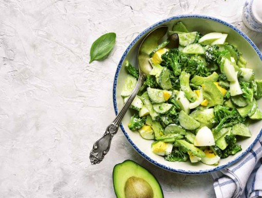 avocadosalade met broccoli light